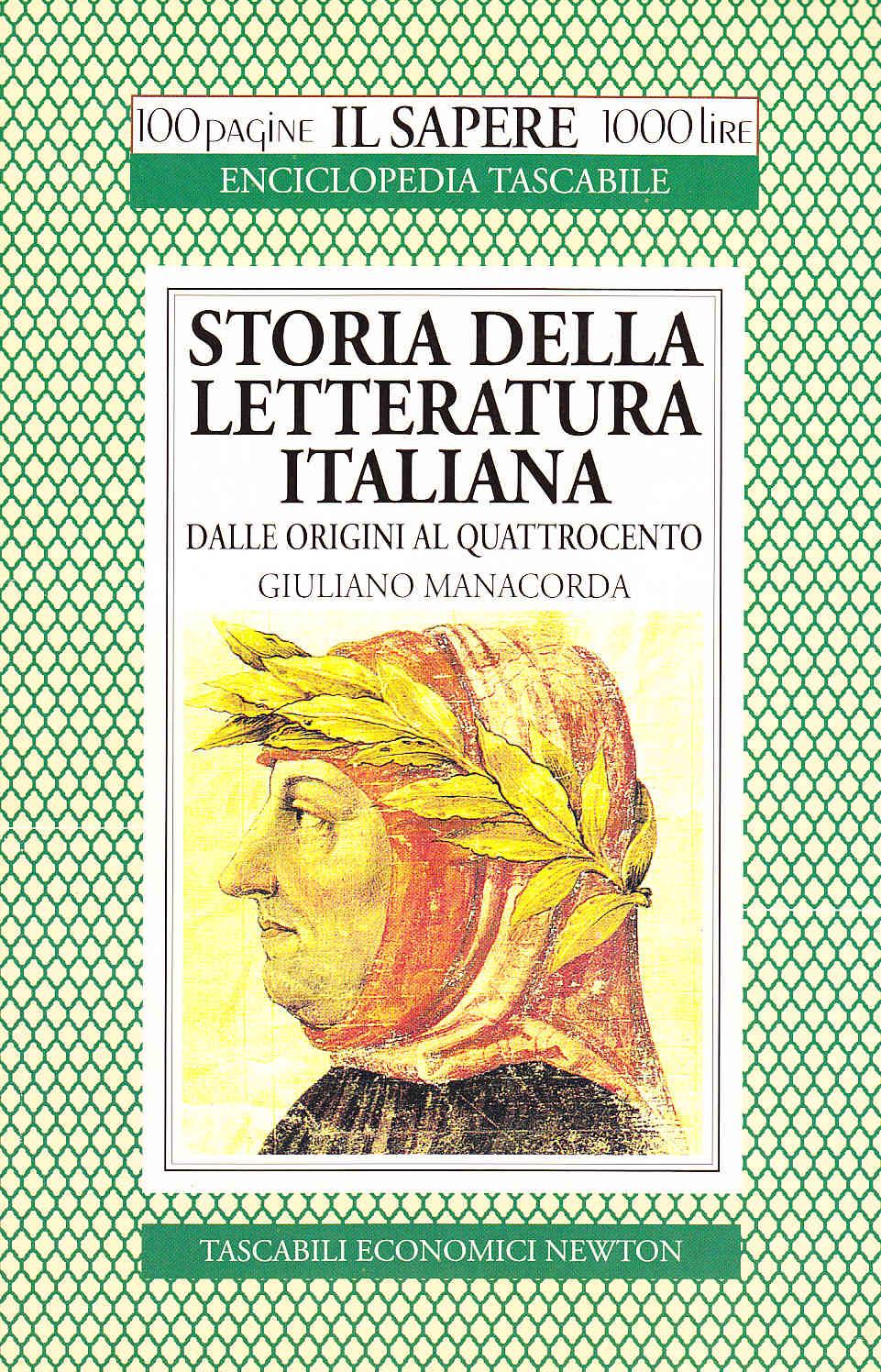 storia della letteratura italiana dalle origini al